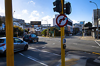 Willis Street at 3pm, Saturday during Level 3 lockdown for the COVID-19 pandemic in Wellington, New Zealand on Saturday, 9 May 2020. Photo: Dave Lintott / lintottphoto.co.nz