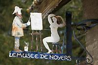 Europe/France/Bourgogne/89/Yonne/Noyers-sur-Serein: village médiéval Enseigne du musée