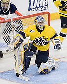 Mike Voran (Notre Dame - 16), Joe Cannata (Merrimack - 35) - The University of Notre Dame Fighting Irish defeated the Merrimack College Warriors 4-3 in overtime in their NCAA Northeast Regional Semi-Final on Saturday, March 26, 2011, at Verizon Wireless Arena in Manchester, New Hampshire.