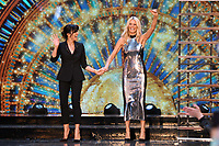"Claudia Winkleman and Tess Daly<br /> at the launch of ""Strictly Come Dancing"" 2018, BBC Broadcasting House, London<br /> <br /> ©Ash Knotek  D3426  27/08/2018"