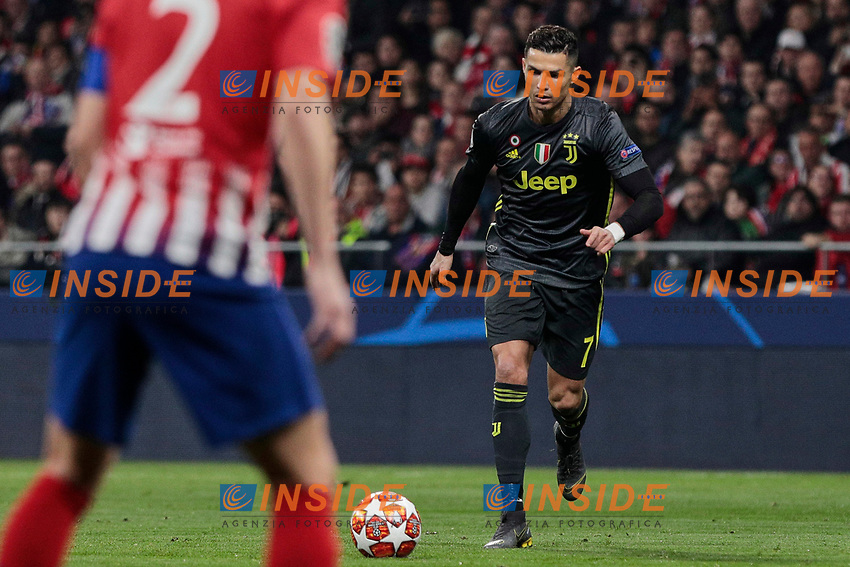 Atletico de Madrid's XXX and Juventus' XXX during UEFA Champions League match, Round of 16, 1st leg between Atletico de Madrid and Juventus at Wanda Metropolitano Stadium in Madrid, Spain. February 20, 2019. (Insidefoto/ALTERPHOTOS/A. Perez Meca)<br /> ITALY ONLY