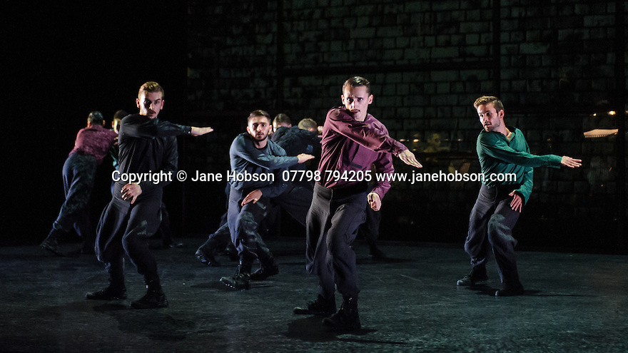 BalletBoyz present YOUNG MEN, at Sadler's Wells. The dancers are:   Andrea Carrucciu, Simone Donati, Flavien Esmieu, Marc Galvez, Oxana Panchenko, Edward Pearce, Leon Poulton, <br /> Harry Price, Matthew Rees, Matthew Sandiford, Bradley Waller, Jennifer White.