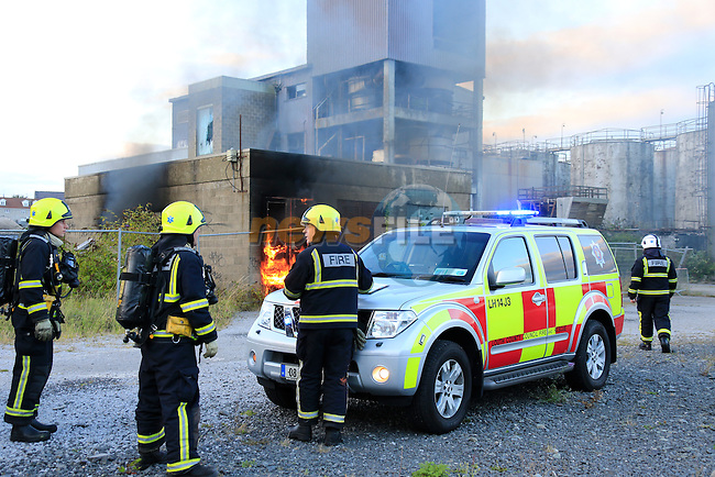 Two units from Drogheda Fire service attended a fire in an ESB substation on the Marsh road in Drogheda, The units stood by awaiting the arrival of the ESB to ensure that power to the substations was knocked off.<br /> Picture www.newsfile.ie