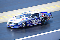 Apr. 14, 2012; Concord, NC, USA: NHRA pro stock driver Larry Morgan during qualifying for the Four Wide Nationals at zMax Dragway. Mandatory Credit: Mark J. Rebilas-