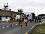 The Parade to mark the celebration of Philip Clarke leaves Monknewtown church. Photo:Colin Bell/pressphotos.ie