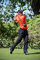Jon Rahm (ESP) watches his tee shot on 10 during round 2 of the World Golf Championships, Dell Technologies Match Play, Austin Country Club, Austin, Texas, USA. 3/23/2017.<br /> Picture: Golffile | Ken Murray<br /> <br /> <br /> All photo usage must carry mandatory copyright credit (&copy; Golffile | Ken Murray)