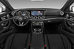 Stock photo of straight dashboard view of 2017 Mercedes Benz E-Class E300 4 Door Sedan Dashboard
