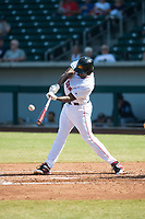 Mesa Solar Sox first baseman Josh Ockimey (28), of the Boston Red Sox organization, swings at a pitch during an Arizona Fall League game against the Peoria Javelinas at Sloan Park on October 24, 2018 in Mesa, Arizona. Mesa defeated Peoria 4-3. (Zachary Lucy/Four Seam Images)