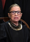 Associate Justice of the Supreme Court Ruth Bader Ginsburg poses during the official Supreme Court group portrait at the Supreme Court on November 30, 2018 in Washington, <br /> Credit: Kevin Dietsch / Pool via CNP