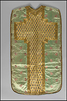 BNPS.co.uk (01202 558833)<br /> Pic: IndarPasricha/BNPS<br /> <br /> Chasuble made from Mughal Indian satins and silk's, and worn by a Portugese bishop of Goa or Cochin.<br /> <br /> From High Fashion to the High Church...<br /> <br /> An incredible collection of 17th century ecclesiastical textiles, that actually started life as luxury fashion worn by the aristocratic women of the day, has emerged for sale.<br /> <br /> The historically important ensemble highlights a golden moment in European textile production dating from 1690 to 1720 when free reign was given to intricate dress designs in gold and silk that was soon adopted by the senior members of the church to adorn they're otherwise plain vestments.<br /> <br /> The valuable collection, assembled over two decades, is now being sold with prices ranging from &pound;5,000 all the way to &pound;1m.