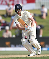 24th November 2019; Mt Maunganui, New Zealand;  England's Dom Sibley batting on day 4 of the 1st international cricket test match, New Zealand versus England at Bay Oval, Mt Maunganui, New Zealand.  - Editorial Use