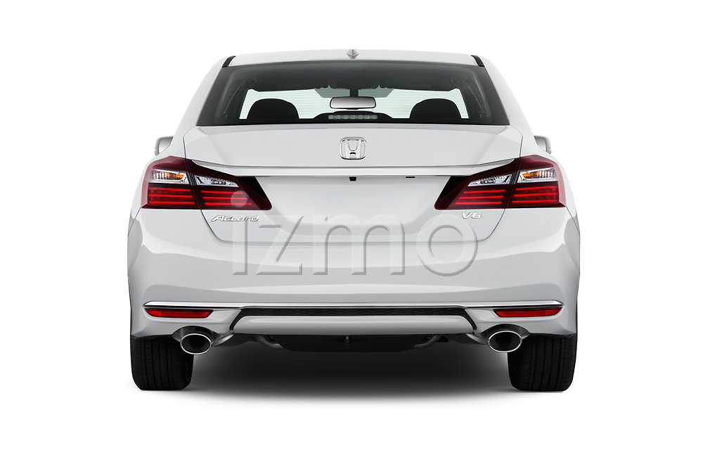Straight rear view of 2017 Honda Accord EX-L 4 Door Sedan Rear View  stock images