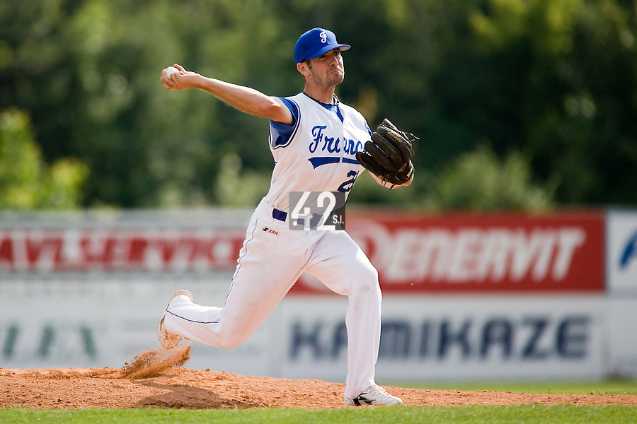 BASEBALL - GREEN ROLLER PARK - PRAGUE (CZECH REPUBLIC) - 24/06/2008 - PHOTO: CHRISTOPHE ELISE.PIERRICK LEMESTRE (TEAM FRANCE)
