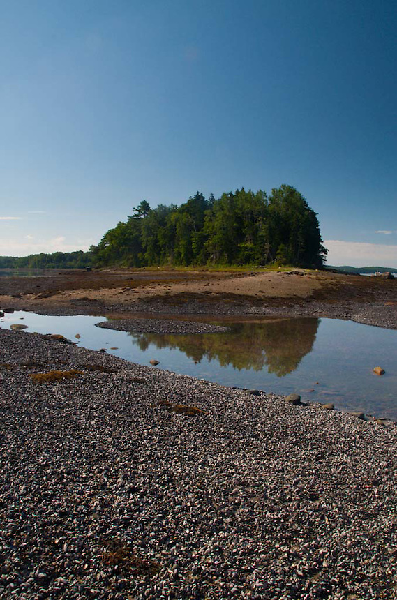 Lower Negro Island Shoreline and the Bagaduce River, Castine, Maine, US