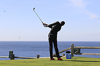 Patrick Rodgers (USA) tees off the par3 7th tee during Sunday's Final Round of the 2018 AT&amp;T Pebble Beach Pro-Am, held on Pebble Beach Golf Course, Monterey,  California, USA. 11th February 2018.<br /> Picture: Eoin Clarke | Golffile<br /> <br /> <br /> All photos usage must carry mandatory copyright credit (&copy; Golffile | Eoin Clarke)