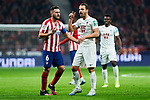 Jorge Resurreccion 'Koke' of Atletico de Madrid and Roberto Soldado of Granada CF during La Liga match between Atletico de Madrid and Granada CF at Wanda Metropolitano Stadium in Madrid, Spain. February 08, 2020. (ALTERPHOTOS/A. Perez Meca)