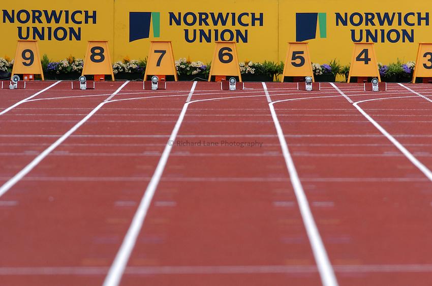 Photo. Henry Browne. Norwich Union International. Alexander Stadium, Birmingham. 25/07/2004..100m track.