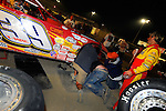 Sep 12, 2009; 9:29:32 PM; Rossburg, OH., USA; The 39th annual running of the World 100 Dirt Late Models racing for the Globe trophy at the Eldora Speedway.  Mandatory Credit: (thesportswire.net)