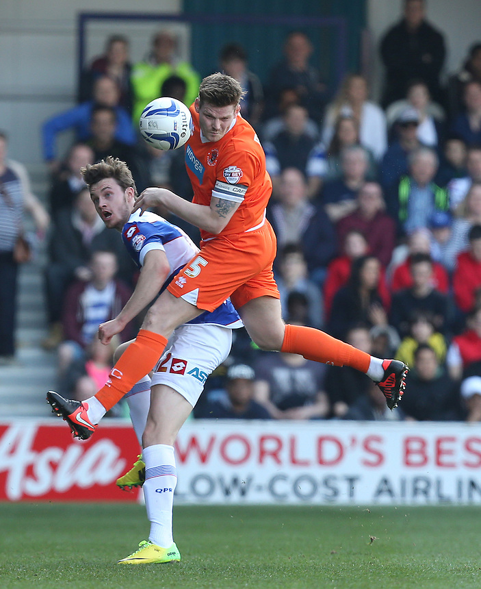 Blackpool's Gary MacKenzie<br /> <br /> Photo by Kieran Galvin/CameraSport<br /> <br /> Football - The Football League Sky Bet Championship - Queens Park Rangers v Blackpool - Saturday 29th March 2014 - Loftus Road - London<br /> <br /> &copy; CameraSport - 43 Linden Ave. Countesthorpe. Leicester. England. LE8 5PG - Tel: +44 (0) 116 277 4147 - admin@camerasport.com - www.camerasport.com