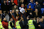 Walsall supporters goad their country neighbours with an inflatable sheep - Football - Sky Bet Division 1 - Shrewsbury Town vs Walsall - Greenhous Meadow Shrewsbury - December 1st  2015 - Season 2015/2016 - Photo Malcolm Couzens/Sportimage