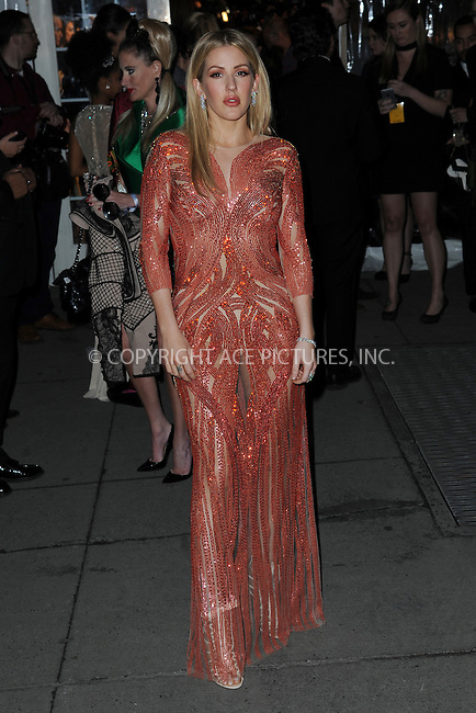 www.acepixs.com<br /> February 8, 2017  New York City<br /> <br /> Ellie Goulding attending the amfAR New York Gala 2017 at Cipriani Wall Street on February 8, 2017 in New York City.<br /> <br /> Credit: Kristin Callahan/ACE Pictures<br /> <br /> Tel: 646 769 0430<br /> Email: info@acepixs.com