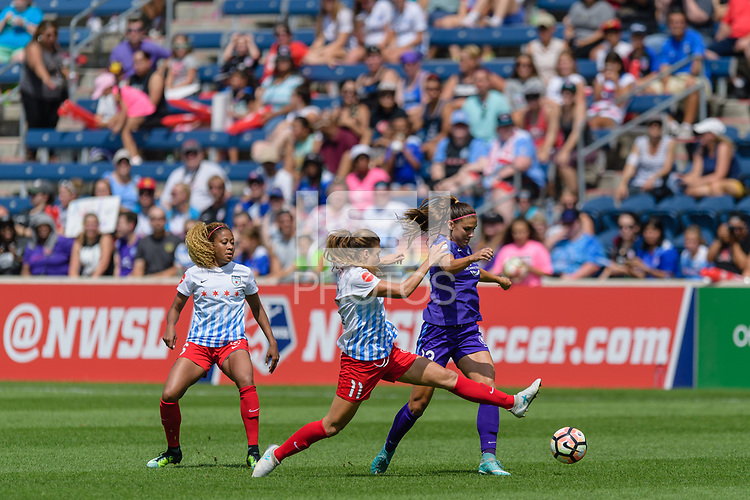 Bridgeview, IL - Saturday July 22, 2017: Sofia Huerta, Alex Morgan during a regular season National Women's Soccer League (NWSL) match between the Chicago Red Stars and the Orlando Pride at Toyota Park. The Red Stars won 2-1.