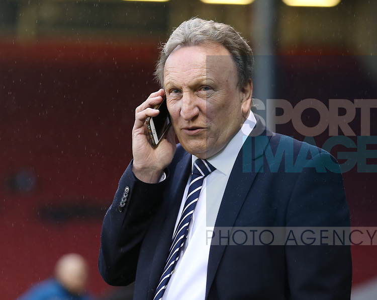 Neil Warnock Cardiff City manager during the Championship match at Bramall Lane Stadium, Sheffield. Picture date 02nd April, 2018. Picture credit should read: Simon Bellis/Sportimage