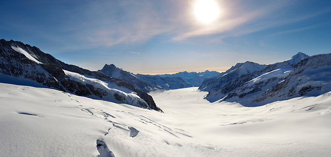 Jungfrau Glacier from Top of Europe - Swiss Alps Switzerland