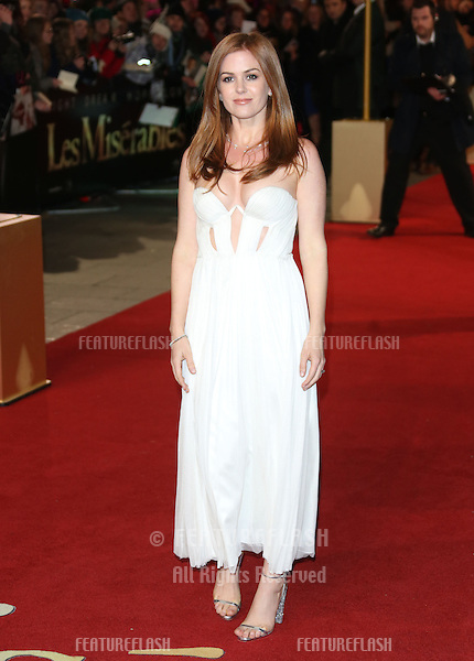 Isla Fisher arriving at the World Premiere of 'Les Miserables' held at the Odeon & Empire Leicester Square, London. 05/12/2012 Picture by: Henry Harris / Featureflash