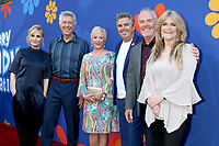 """LOS ANGELES - SEP 5:  Maureen McCormick, Barry Williams, Eve Plumb, Christopher Knight, Mike Lookinland, Susan Olsen at the """"A Very Brady Renovation"""" Premiere Event at the Garland Hotel on September 5, 2019 in North Hollywood, CA"""
