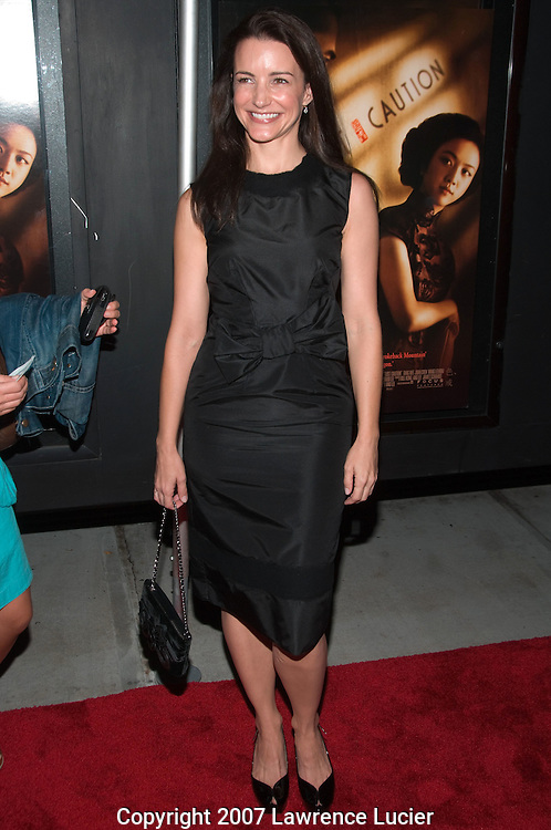 "Actress Kristin Davis arrives at a special screening of ""LUST, CAUTION"" September 27, 2007, at the Landmark Sunshine Cinema in New York City.. (Pictured : Kristin Davis)."