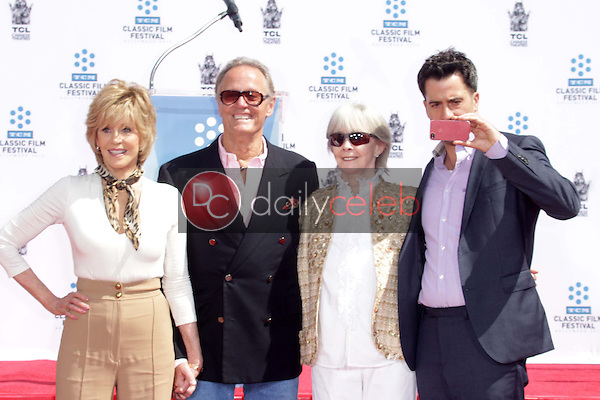 Jane Fonda, Peter Fonda, Shirlee Mae Adams, Troy Garity<br /> at the Jane Fonda Hand And Foot Print Ceremony as part of the 2013 TCM Classic Film Festival, TCL Chinese Theater, Hollywood, CA 04-27-13<br /> David Edwards/DailyCeleb.Com 818-249-4998