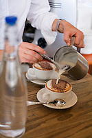 Coffee at Jackman & McRoss - a renowned bakery and cafe at Battery Point.  Hobart, Tasmania, AUSTRALIA