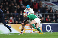 Jack Nowell, FEBRUARY 27, 2016 - Rugby : Jack Nowell of England is tackled by Keith Earls of Ireland during the RBS 6 Nations match between England and Ireland at Twickenham Stadium, London, United Kingdom. (Photo by Rob Munro)