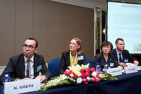 Invest Securities and Jeantet Associes' Session 'Strategic Benefits for Chinese Companies to Be Listed on NYSE Euronext Paris' at Shanghai / Paris Europlace Financial Forum, in Shanghai, China, on December 1, 2010. Photo by Lucas Schifres/Pictobank