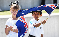 21st November 2019; Mt Maunganui, New Zealand;  Young fans on international test match cricket, Day 1, New Zealand versus England at Bay Oval, Mt Maunganui, New Zealand.