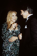 Las Vegas, U.S.A, December, 1982. French singer Sylvie Vartan with her Italian husband Tony Scotti at the MGM Hotel.