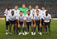 The USMNT lines up before playing at Tianjin Olympic Centre Stadium. The USMNT tied the Netherlands, 2-2, during the 2008 Beijing Olympics in Tianjin, China.