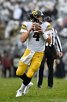 STATE COLLEGE, PA - OCTOBER 27: Iowa QB Nathan Nate Stanley (4) drops back to pass. The Penn State Nittany Lions defeated the Iowa Hawkeyes 30-24 on October 27, 2018 at Beaver Stadium in State College, PA. (Photo by Randy Litzinger/Icon Sportswire)