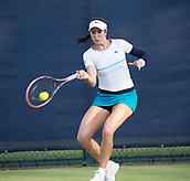 June 13th 2017, Nottingham, England; WTA Aegon Nottingham Open Tennis Tournament day 4;  Forehand from Christina McHale of USA as she plays Anastasija Sevastova of Latvia
