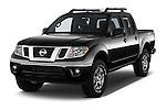 2016 Nissan Frontier PRO-4X-Crew-Cab 4 Door Pickup Angular Front stock photos of front three quarter view
