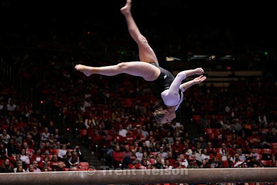 Trent Nelson  |  The Salt Lake Tribune.Salt Lake City - Utah vs. BYU college gymnastics Friday, March 26, 2010.