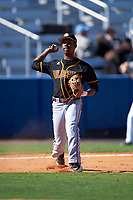 Bethune-Cookman Wildcats third baseman Trent Nash (31) during practice before a game against the Wisconsin-Milwaukee Panthers on February 26, 2016 at Chain of Lakes Stadium in Winter Haven, Florida.  Wisconsin-Milwaukee defeated Bethune-Cookman 11-0.  (Mike Janes/Four Seam Images)
