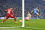 Igor Akinfeev of CSKA saves a strike from James Milner of Manchester City - Manchester City vs. CSKA Moscow - UEFA Champions League - Etihad Stadium - Manchester - 05/11/2014 Pic Philip Oldham/Sportimage