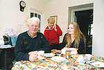 Musician Peter O'Loughlin at home in Kilmaley with his wife, Beta, and Lara Browne, project coordinator of the 'Meet The Musician' lunchtime concerts at the County Museum - May 19, 2000. Photograph by Eamon Ward