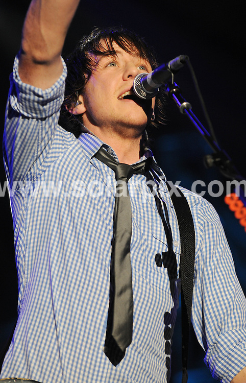**ALL ROUND PICTURES FROM SOLARPIX.COM**.**WORLDWIDE SYNDICATION RIGHTS**.McFly perform live in concert at Wembley Arena, London, UK. 27th November 2008..This pic: Danny Jones from McFly..JOB REF: 8024 BTT      DATE: 27_11_2008.**MUST CREDIT SOLARPIX.COM OR DOUBLE FEE WILL BE CHARGED* *UNDER NO CIRCUMSTANCES IS THIS IMAGE TO BE REPRODUCED FOR ANY ONLINE EDITION WITHOUT PRIOR PERMISSION*