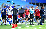 v.l. Physiotherapeut Andreas Thum, Rick van Drongelen (HSV, verletzt), Mannschaftsarzt Dr. Goetz Welsch, Torwarttrainer Kai Rabe, Trainer Dieter Hecking (HSV)<br />Hamburg, 28.06.2020, Fussball 2. Bundesliga, Hamburger SV - SV Sandhausen<br />Foto: Tim Groothuis/Witters/Pool//via nordphoto<br /> DFL REGULATIONS PROHIBIT ANY USE OF PHOTOGRAPHS AS IMAGE SEQUENCES AND OR QUASI VIDEO<br />EDITORIAL USE ONLY<br />NATIONAL AND INTERNATIONAL NEWS AGENCIES OUT