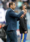 Getafe's coach Juan Eduardo Esnaider during La Liga match. April 16,2016. (ALTERPHOTOS/Acero)