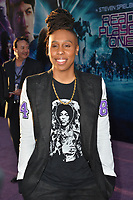 Lena Waithe at the premiere for &quot;Ready Player One&quot; at The Dolby Theatre, Los Angeles, USA 26 March 2018<br /> Picture: Paul Smith/Featureflash/SilverHub 0208 004 5359 sales@silverhubmedia.com
