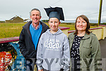 Liam Carroll graduating from Glenderry NS on Friday standing with his parents Padraig and Margaret Carroll.